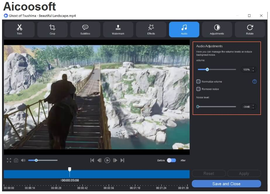 audio - aicoosoft video converter